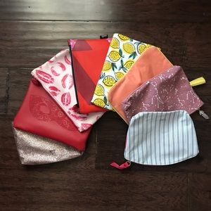 Set of 8 NEW Ipsy Bags.